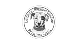 Black & white Logo for Lagunitas Brewing Company delivered to businesses in SF Bay Area by Office Libations