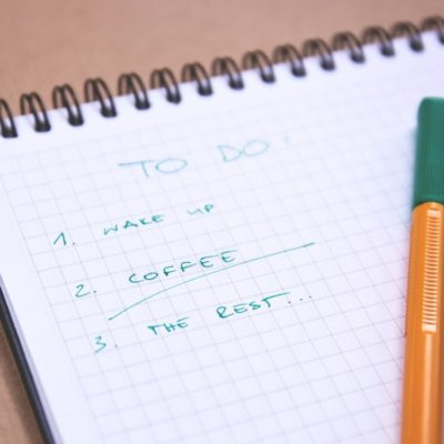 Image of a routine to-do list