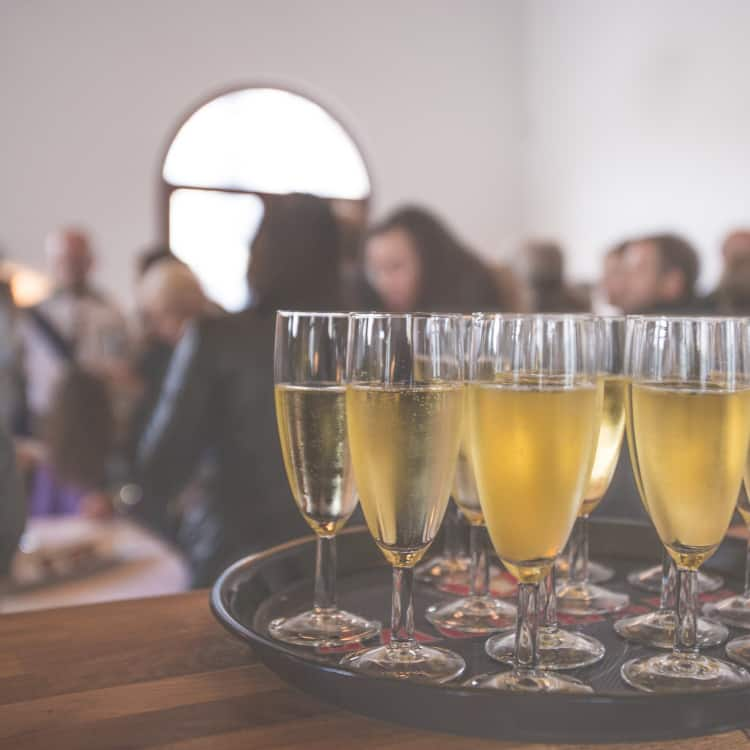 Image of beverages at a corporate event