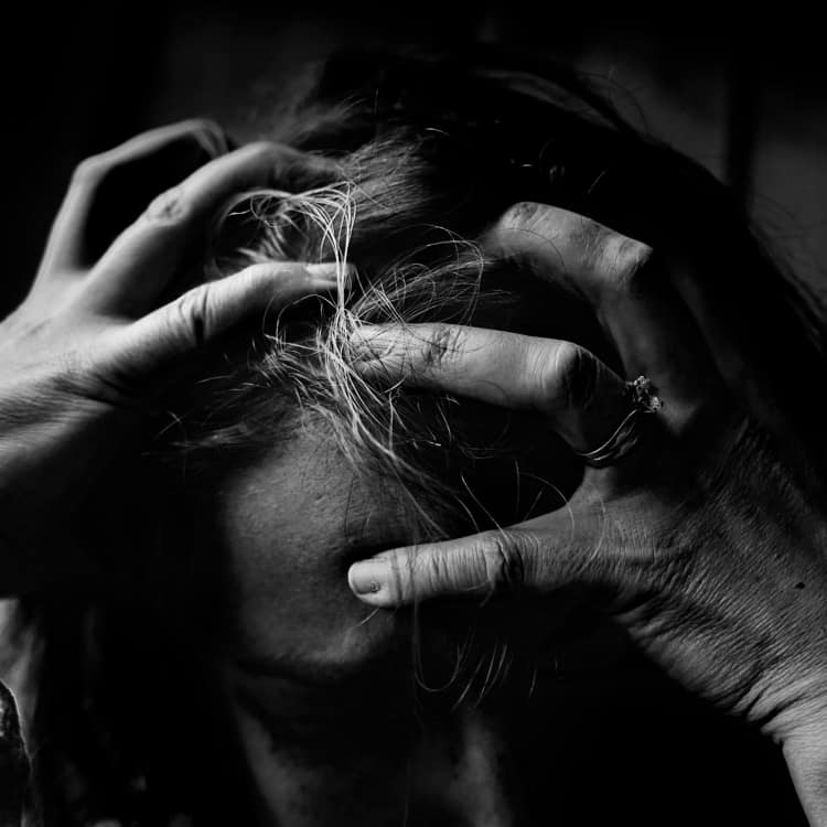Image of a person who is stressed