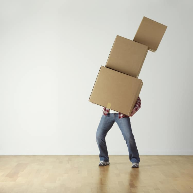 Image of a person who is overloaded with work