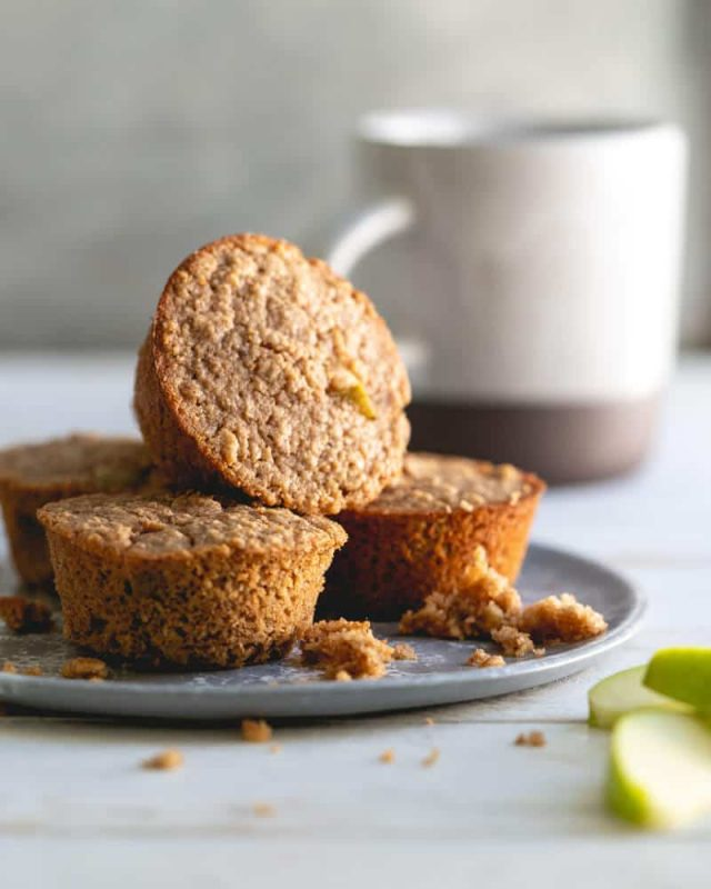 image of oatmeal muffins as a healthy snack for work