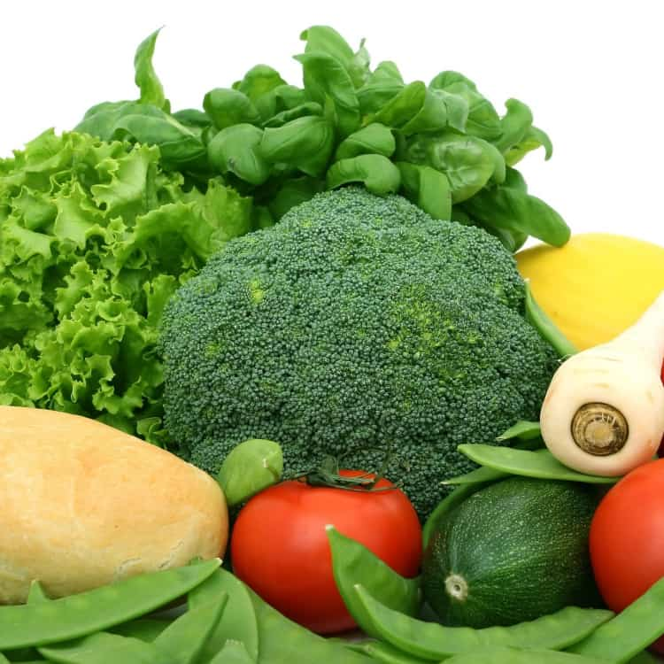 image of vegetables containing fiber