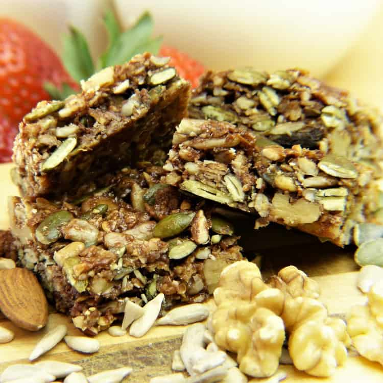 image of a granola snack bar