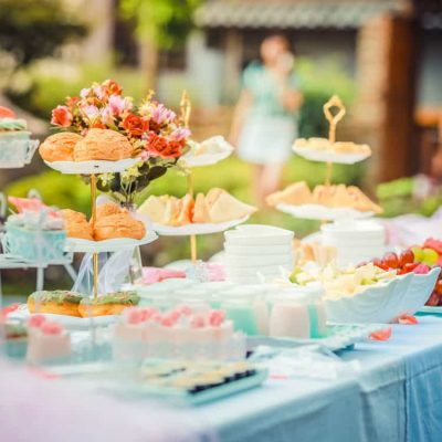 image of a snack table at a party