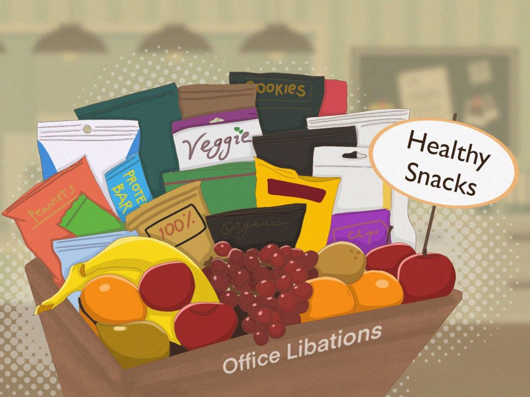 Illustration of a office snack box from Office Libations