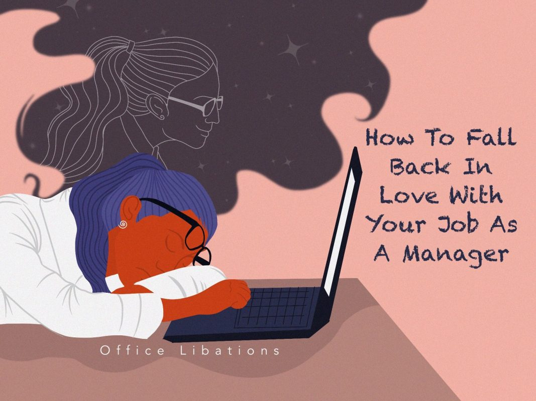 Illustrated cover image for article about falling back in love with your work week by Office Libations