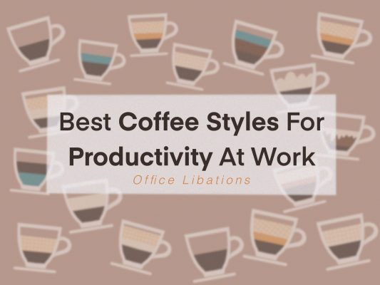 illustrated cover images of the 14 best styles of coffee for productivity